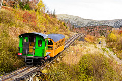Mount Washington Cog Railroad, New Hampshire (Southern New England Photography) Tags: rock foliage historic northamerica nature traintracks mountains buildings outdoor crawfordnotch objects oldtimer old newengland autumn colorful scenery fall mtwashingtoncograilway forest transportation scenic newhampshire parks unitedstates landscape train whitemountains nh rocky mountwashington us