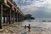 Next to the Pier (Santa Monica Beach) (astrofan80) Tags: brandung california kalifornien lifeguard losangeles meer pazifik personen pier rundreise santamonica santamonicabeach santamonicapier usa us