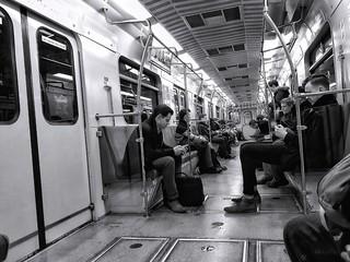 In transit...