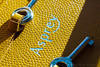 Embossed Asprey Logo (Wai Mun Yoon) Tags: waimunyoon asprey backgammon luxury leather aubergine mustard aspreylogo