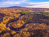 (Daniel000000) Tags: river rib mountain mountains hill hills sky clouds landscape fall trees forest nature wisconsin midwest photography water golden hour sun light sunset green blue cloud weather explore dji phantom 3 standard drone uav