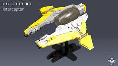 Klotho Interceptor (CK-MCMLXXXI) Tags: lego moc starfighter klotho starwars jedi interceptor digital render ldd povray spacecraft