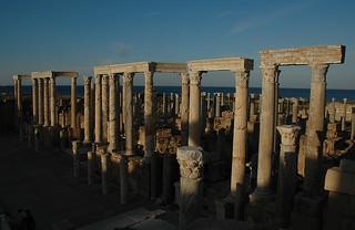 BEFORE - The Stage -  Leptis Magna, Khoms, Libya