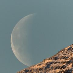 The Moon at Noon (*Jonina*) Tags: iceland ísland faskrudsfjordur fáskrúðsfjörður moon tunglið jónínaguðrúnóskarsdóttir abigfave 500views 50faves