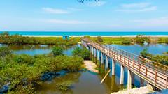 Parque Marino Valdivia (Juan Alfredo 001) Tags: puente parque naturaleza agua madera mar azul santa elena ecuador sudamérica