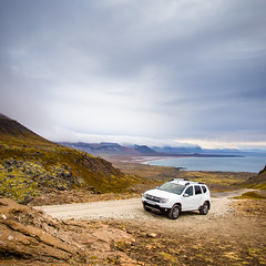 On the road in Iceland (Zeeyolq Photography) Tags: holidays trek duster road trail sky islande iceland 44 landscape vesturland is