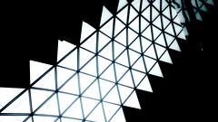 Triangles. Wide view (victor_shv.) Tags: triangle saw dark architecture lines black monochrome colors geometrically sky lg g5 geometric skylight symmetry