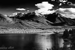 Drama (maureen.elliott) Tags: blackandwhite landscape mountains lake drama skies clouds banffnationalpark vermillionlakes water alberta canadianrockies