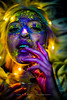 Andrea Ivanova (Thea Cathrine H.) Tags: colors pop colorful popcolor blue red warm cold yellow neon light fantastic portraits woman girl look nice canon photo photography upload hair blond inspiration