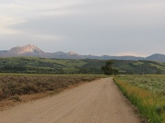 road to heaven (cdavid laurier) Tags: road sky field mountains sunset nature wyoming usa grass landscape wild
