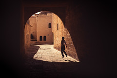 Play. Jerusalem (Marji Lang Photography) Tags: jerusalem israel palestine boy child childhood silhouette play rope jump jumping street light shadow streetshot travel destination golden tones game memories children fun composition daylight sunny day playing kids kid motion movement moment