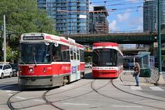 2015-06-26, Toronto, Lower Spadina Avenue (Fototak) Tags: tram strassenbahn streetcar toronto ontario canada ttc flexity ligne510 4158 4407