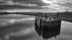 Bump'R (Alfred Grupstra) Tags: river water pier bridgemanmadestructure nature outdoors sky harbor jetty cloudsky old architecture nopeople reflection sea landscape scenics woodmaterial