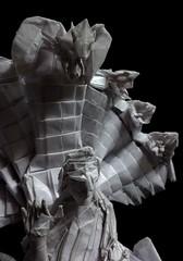 ORIGAMI GAUTAMA BUDDHA! (Neelesh K) Tags: origami buddha neelesh k single sheet box pleating grids 96 gautama origamibuddha