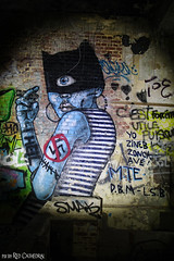 Cyclopic Catwoman says no to Nazis (Red Cathedral uses albums) Tags: redcathedral aztektv sony alpha slt mkii sonyalpha a77ii a77 dslr sonyslta77ii translucentmirrortechnology wanderlust digitalnomad streetart urbanart contemporaryart graffiti urbex hiking protest activism alittlebitofcommonsenseisagoodthing eventcoverage streetphotography travellingphotographer travel fort chartreuse luik liege luttich liège decay abandonned nazi mask cyclops swastika antifa heil