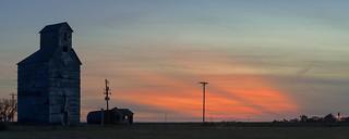 Grain Elevator Sunset - Woods, KS