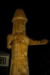 DSC_8195 (Copy) (pandjt) Tags: chilliwack bc britishcolumbia stólō stolo yakweakwioose firstnation yakweakwioosefirstnation terryhorne chiefterryhorne welcomefigures welcome sculpture carving publicart nightphotography longexposure lightpainting