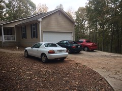They're multiplying. (stevenbr549) Tags: honda del sol sols driveway cars 1993 1995 1997 white green red
