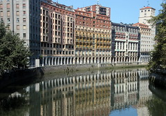 Bilbao Reflections (Alan1954) Tags: bilbao spain holiday 2017 river water reflections buildings