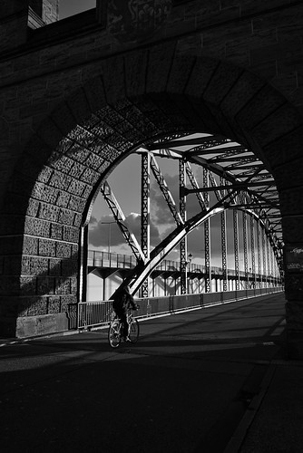 contrasts with cyclist