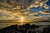 Sunset Misty Clouds (ponoimages) Tags: beachsunset kaanapali lahaina lanai mauibeach mauisunset molokaisunrise ponoimages westmaui