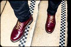 1490 10 hole RED. (CWhatPhotos) Tags: cwhatphotos check checked tiles doc docs doctor marten martens air wair airwair bouncing soles original olympus camera red oxblood 10 hole lace boots boot drmartens docmartens dms rouge cushion sole yellow stitching yellowstitching foot laced laces photo photos picture pictures with that have dr comfort cushioned wear feet foto fotos which contain footwear 1490 1490s england years year love mine me z welt dm drmarten leather cherry