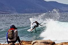 Sandon Point Surfer (Ggreybeard) Tags: action surf surfer whattodo illawarra nsw photographer rocks coast spray