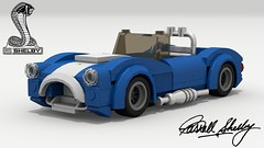 Shelby Cobra (new) (Tom.Netherton1) Tags: shelby cobra ac car cars classic vintage 1960s 427 convertible roadster cabriolet 2door british american america britain ford power v8 lego legos ldd digital designer city dropbox download lxf pov povray vehicle white background