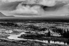 Incoming! (Aethelweard) Tags: southernregion iceland is scenery beautifulscenery landscape breathtakinglandscapes blackandwhite bw rivers clouds trees black europe beautiful stunning white canon efs18135mmf3556isstm flickr rural countryside photography landscapephotography