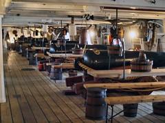 HMS Warrior Gun Deck 026 (saxonfenken) Tags: 6973nautical 6973 hmswarrior portsmouth gundeck nautical tables deck thumbsup