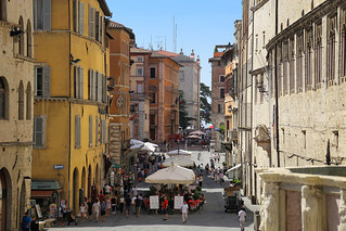 Corso Vannucci is the main street of Perugia