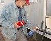 testing fuel line (The EnergySmart Academy) Tags: gas line fuel combustible sniffer analyzer bubble solution propane naturalgas mobilehome manufactured housing