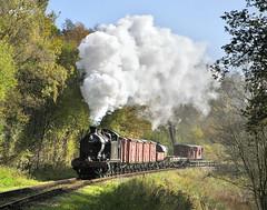 4277 at Cherryeye Bridge. (johncheckley) Tags: d90 uksteam loco railway goodstrain steam