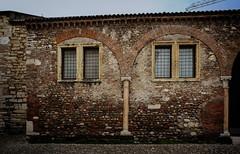San Procolo church (Tiigra) Tags: verona veneto italy it 2011 architecture city column romanesque ruin texture wall window pattern arch