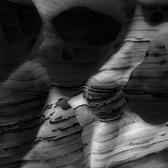 In Canyons 156 (noahbw) Tags: d5000 dof hiddencanyon nikon utah zionnationalpark abstract autumn blackwhite blackandwhite blur bw canyon depthoffield desert erosion light monochrome natural noahbw rock shadow slotcanyon square stone incanyons