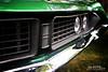 1971 Green Torino GT (Hi-Fi Fotos) Tags: ford torino gt grille badge green 71 vintage american classiccar detail face 70s chrome headlight nikkor 1855 28 nikon d7200 dx hififotos hallewell