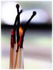 Fire sticks (Greenstone Girl) Tags: macromonday stick matches embers glowing charr