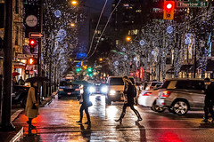 These Boots 🚶‍♀️💦☔ Vancouver, BC (Michael Thornquist) Tags: raincouver robsonstreet onrobson thurlowstreet street streetphotography rain christmasdecorations vancouver 604now photos604 explorebc explorecanada canoncanada ilovebc britishcolumbia pacificnorthwest pnw canada 500px