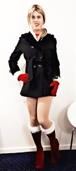 I've been told my coat is too short what do you think? (Miss Nina Jay) Tags: trannie boots tights