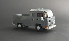Lego 1967 Volkswagen T2 Doka - 01 (Jonathan Ẹlliott) Tags: volkswagen t2 crewcab doka transporter vw