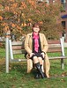 Rest on a bench (Marie-Christine.TV) Tags: feminine transvestite lady mariechristine bench sitting pussybow blouse skirtsuit leather coat boots ledermantel stiefel bluse kostüm bank outdoor