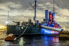 Cruiser AURORA (Dimi Alexeyev) Tags: light fest saintpetersburg night russia fujinon fujifilm xt20 1855mm cruiser aurora