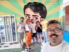 Ranjit Dahiya's Tribute to Late Bollywood Icon Mr Shashi Kapoor (firoze shakir photographerno1) Tags: ranjitdahiya paintedwalls bandra graffiti shashikapoor bap bollywoodartproject