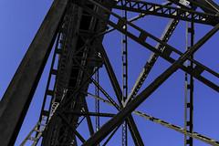 Black and Blue (punahou77) Tags: bridge gaviotastatebeach gaviota california trestle punahou77 stevejordan nikond500 blackandwhite blue abstract lines angles geometric
