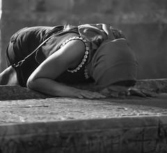 Tourists by Yehuda Amichai (ybiberman) Tags: israel jerusalem oldcity alquds christianquarter woman praying crunching thestoneoftheanointing churchoftheholysepulchre beautiful candid streetphotography