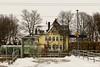 Reuth - train station (GerWi) Tags: bahnhof trainstation himmel sky gebäude haus häuser fz1000 bäume bahnhofsgelände