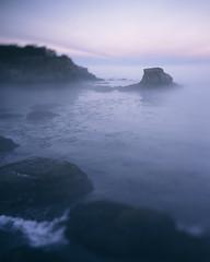 Cape Flattery Sunrise (voetshy) Tags: 4x5 film 90mm nikon sw 45 provia 100f expired toyo 45a large format cape flattery makah nation sunrise ocean sea fog tilt washington rocks waves