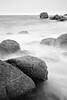 (Jens Steidtner) Tags: rocks granite outdoors nature landscape beach coast sea seaside ocean longexposure bw blackandwhite monochrome fujifilm x100t cléder bretagne brittany côtedessables finistère france