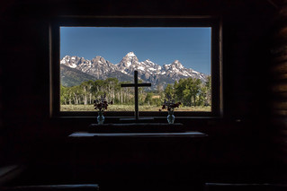View on Tetons from Chapel of Transfiguration