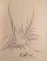 Bird Flourish by E. L. Brown (1944) (ddsiple) Tags: 1944 calligraphy elbrown flourish